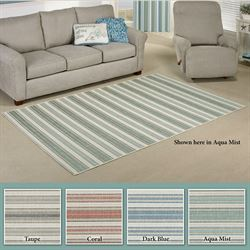 Beach Stripe Rectangle Rug