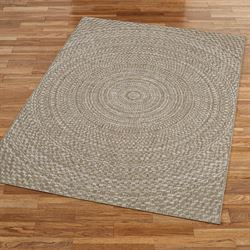 Sundial Rectangle Rug Latte