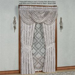 Le Blanc Wide Tailored Curtain Pair Silver 100 x 84