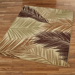 Tropisk Rectangle Rug Latte