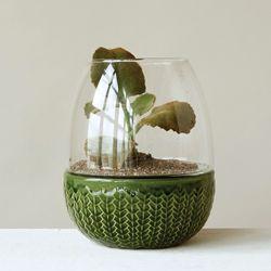 Lofton Terrarium Candleholder Green