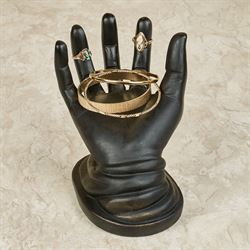 Helping Hand Table Sculpture Black