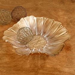 Graceful Blossom Centerpiece Bowl Gold