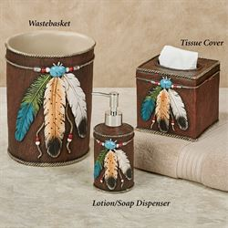 Feathers Lotion Soap Dispenser Brown