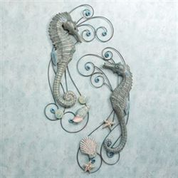 Seahorse Serenade Wall Sculpture Set  Set of Two
