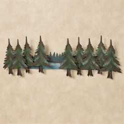 Pine Forest Wall Topper Green