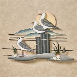 Seaside Perch Wall Sculpture Multi Earth