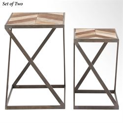 Cypress Elements Accent Tables Multi Earth Set of Two