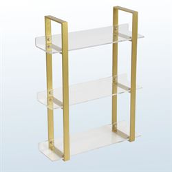 Mod Acrylic Floor Shelf Gold