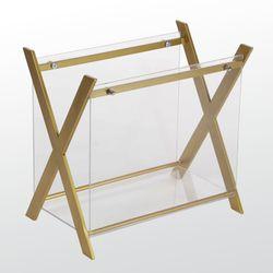 Mod Acrylic Magazine Rack Gold