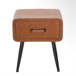 Retro Accent Table Brown