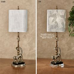 Marisol the Monkey Table Lamp Gold
