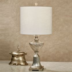 Adley Table Lamp Champagne Silver