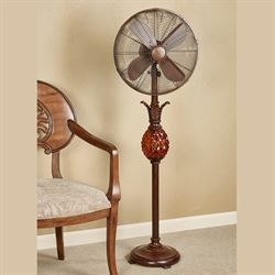 Pili Pineapple Floor Fan Dark Copper