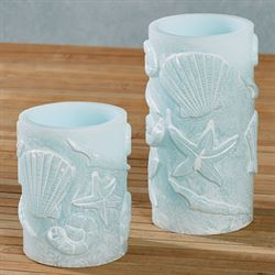 Samudra LED Candles Powder Blue Set of Two