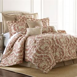 Savannah Damask Comforter Set Cinnabar