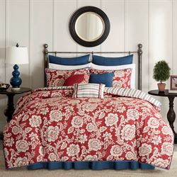 Lyla Comforter Bed Set Dark Red