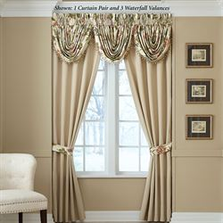 Daphne Tailored Curtain Pair Khaki 82 x 84