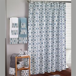 Dotted Circles Shower Curtain Off White 72 x 72