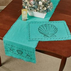 Seashore Table Runner Lapis