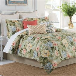 Isla Verde Tropical Comforter Set Dark Beige
