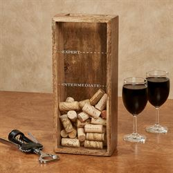 Expert Wine Cork Storage Box Brown