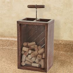 Corkscrew Cork Holder Brown