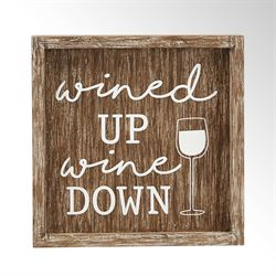 Wine Down Wall Plaque Brown