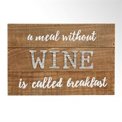 A Meal Without Wine Wall Plaque Brown