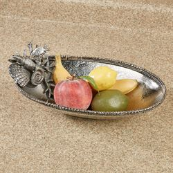 Coral and Shell Serving Bowl Silver