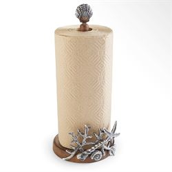 Coral and Starfish Paper Towel Holder Brown