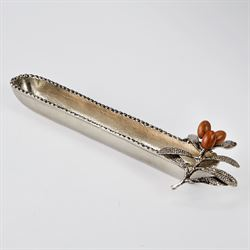 Olive Boat Serving Dish Silver