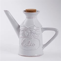 Olive Oil Decanter White