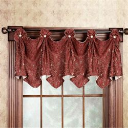 Madison Button Valance  48 x 20