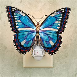Blue Morpho Butterfly Nightlight