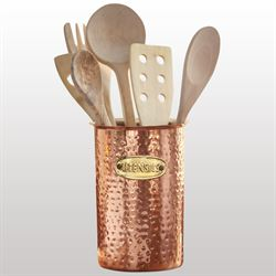 Copper Kitchen Utensil Caddy