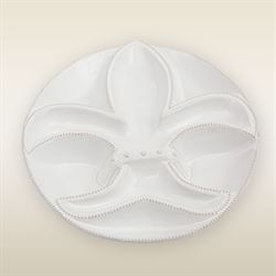 Fleur de Lis Section Server White