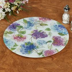 Multi Hydrangeas Lazy Susan Multi Warm