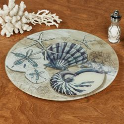 Tide Pool Shells Lazy Susan Multi Cool