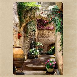 Aragonese Arches Canvas Wall Art Multi Warm