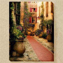 Fleurs de Rue Canvas Wall Art Multi Warm