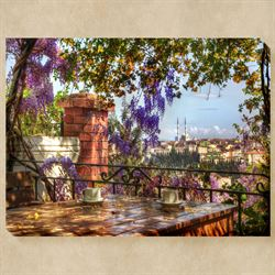 Coffee with a View Canvas Wall Art Multi Warm