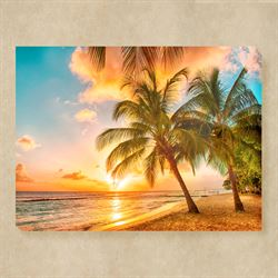 Setting Sun Canvas Wall Art Multi Warm