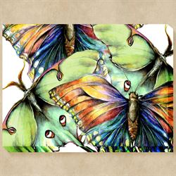 Pastel Butterfly No 2 Canvas Wall Art Multi Pastel