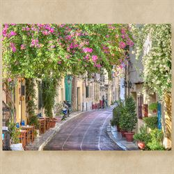 Morning Lane Canvas Wall Art Multi Bright