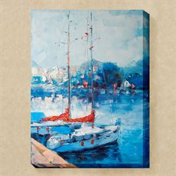 Yacht Club Canvas Wall Art Blue