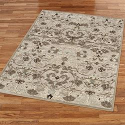 Voluta Rectangle Rug Light Taupe