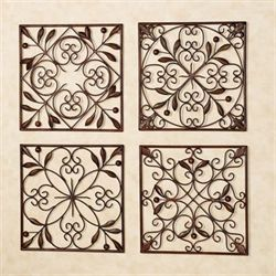 Catalonia Wall Grille Set Brown Set of Four