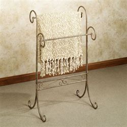 Messina Iron Blanket Rack Tuscan Rustic