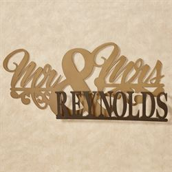 Mr and Mrs II Personalized Wall Art Sign Bronze/Gold